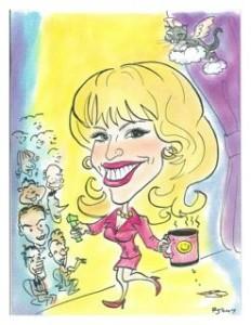 carol ann small caricature